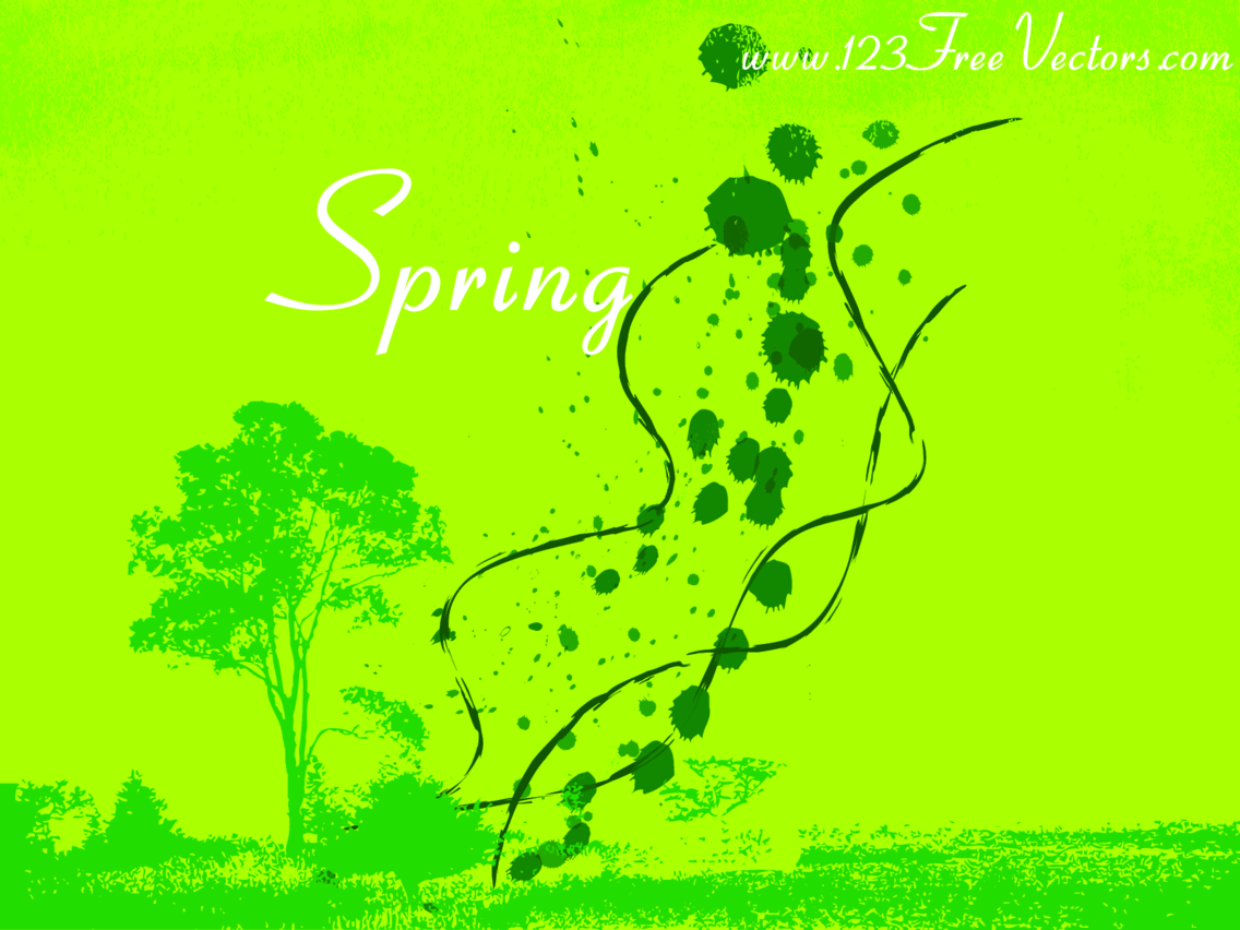 Spring Vector Background