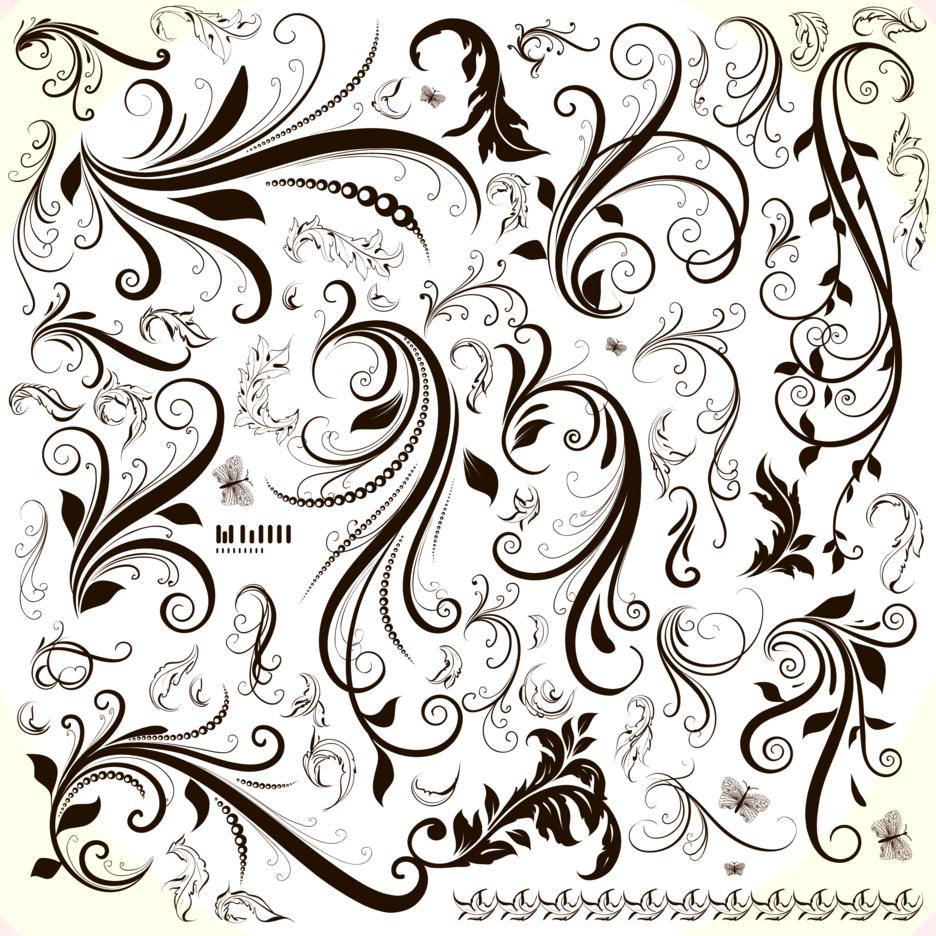 Floral Design Element Set