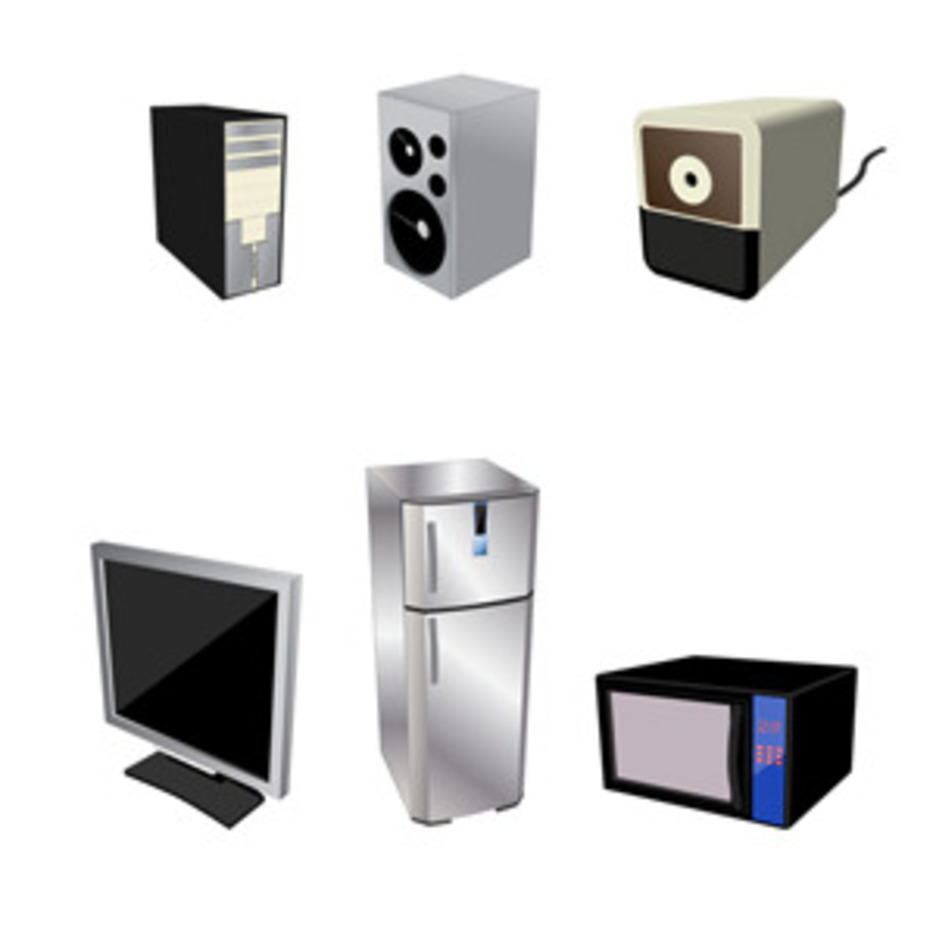 Home Electrical Appliances – Free Vector