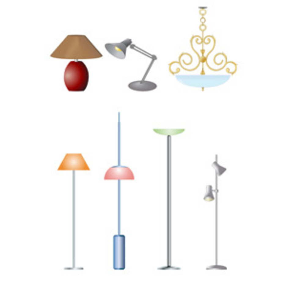 Electric Lamps- Free Vectors
