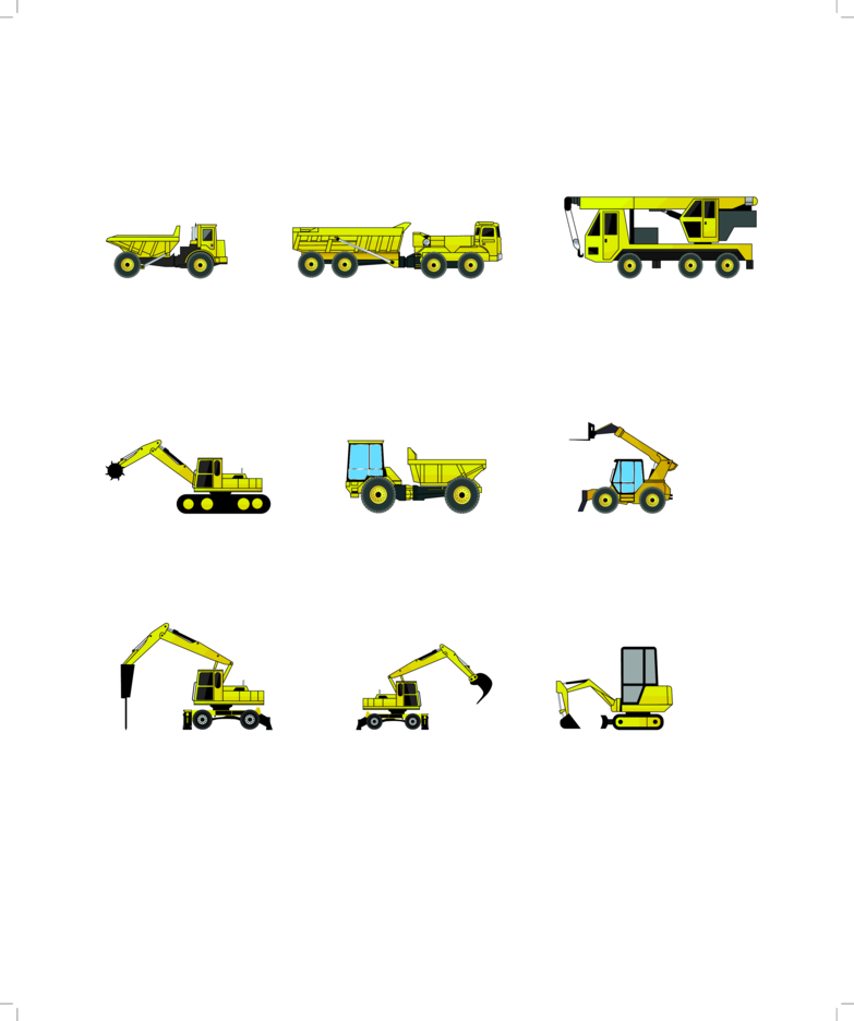Free Construction Machines Vector Pack
