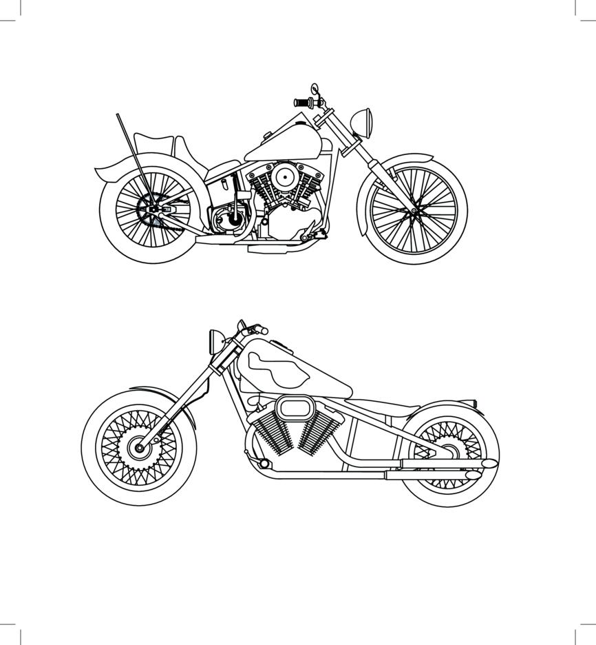 Free Vector- Harley Davidson Sketches