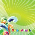 Art Colored Swirls In Green Vector
