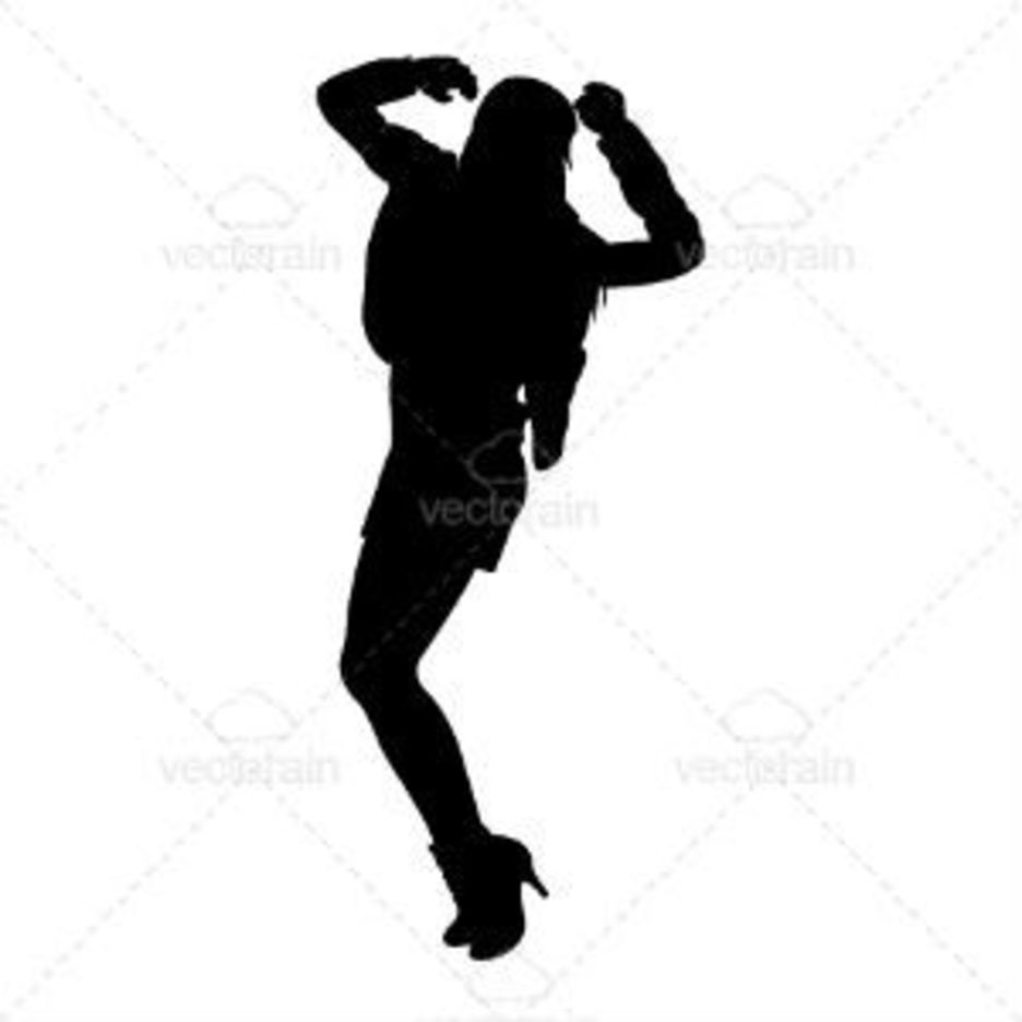 Silhouette Of A Dancing Lady