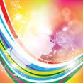 Colored Lines Swirls Transprent Design