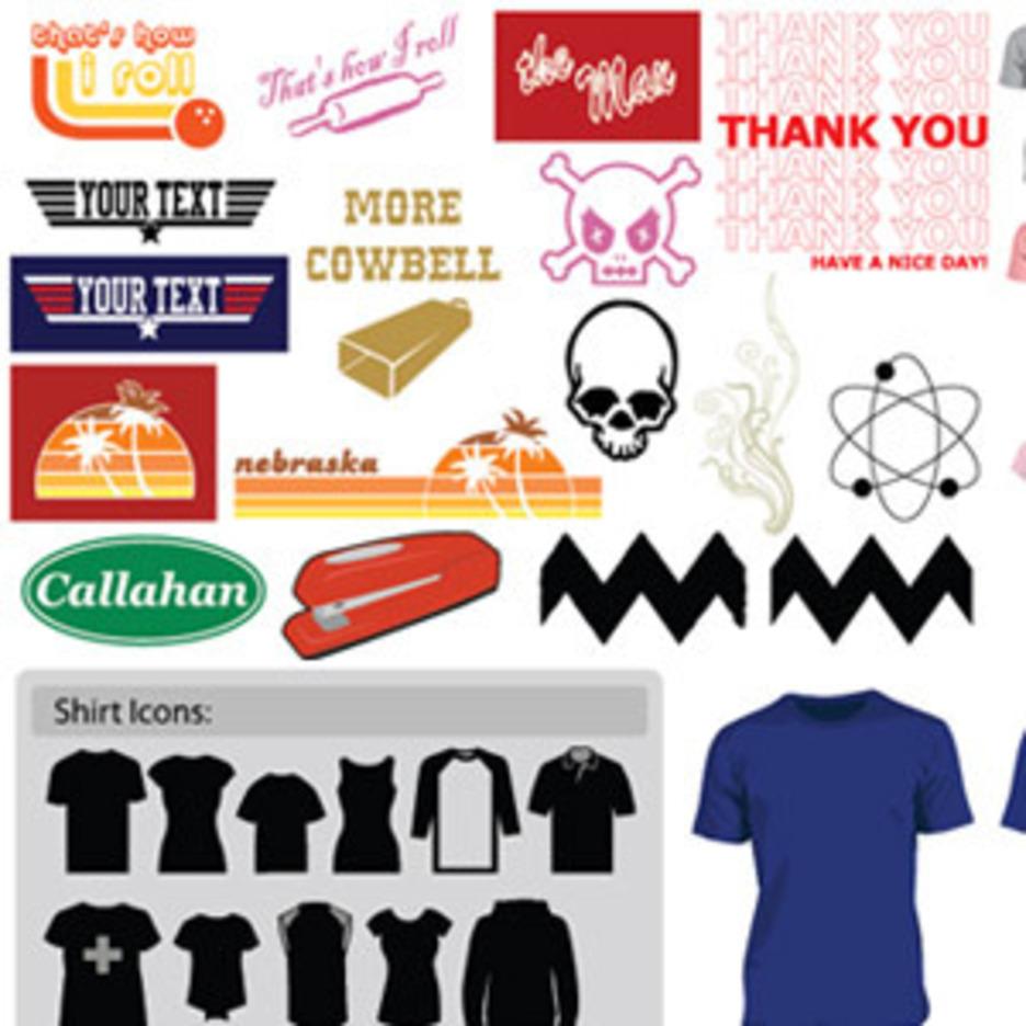 Classic T-Shirt Art (Plus Actual Vector T-Shirts!)