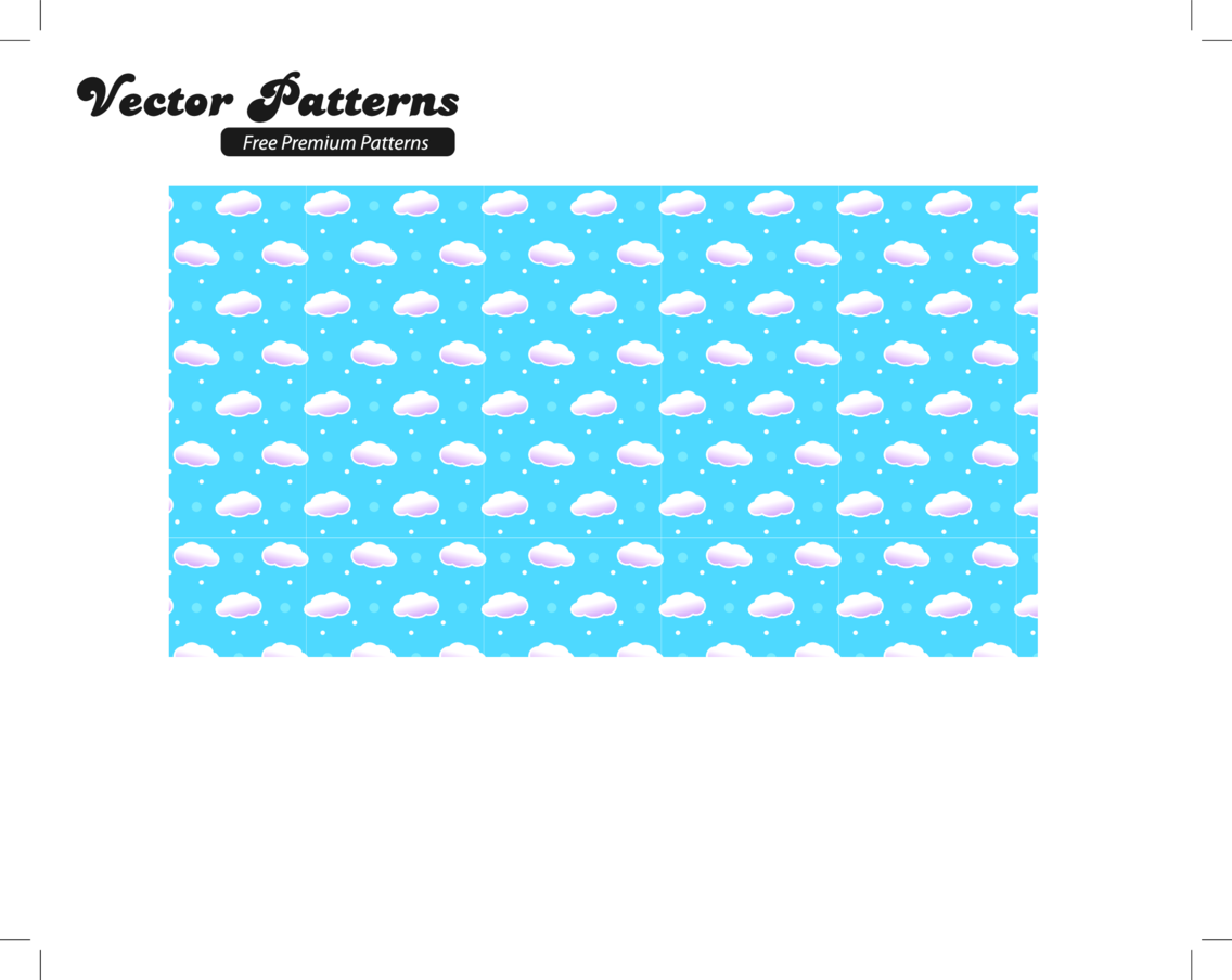 Cloud Seamless Vector Pattern