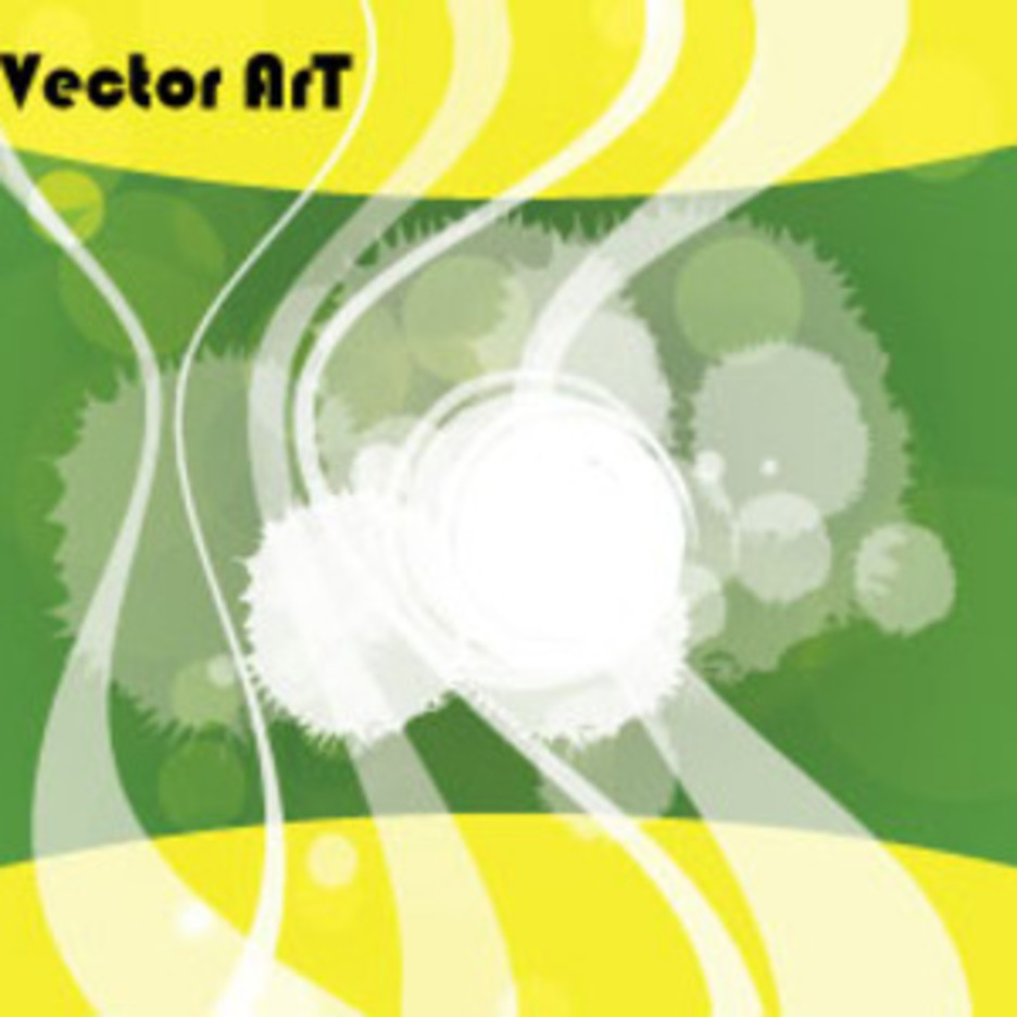 Yellow Green Abstract Transprancy Free Art