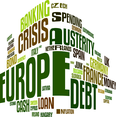 European Debt Crisis Word Cloud Vector