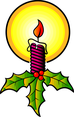 Candle Xmas Vector Image