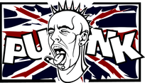 Punk Pierced Face Vector