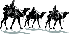 Three Kings Vector Image