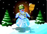 Snowman Free Vector