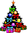 Colorful Christmas Tree Vector