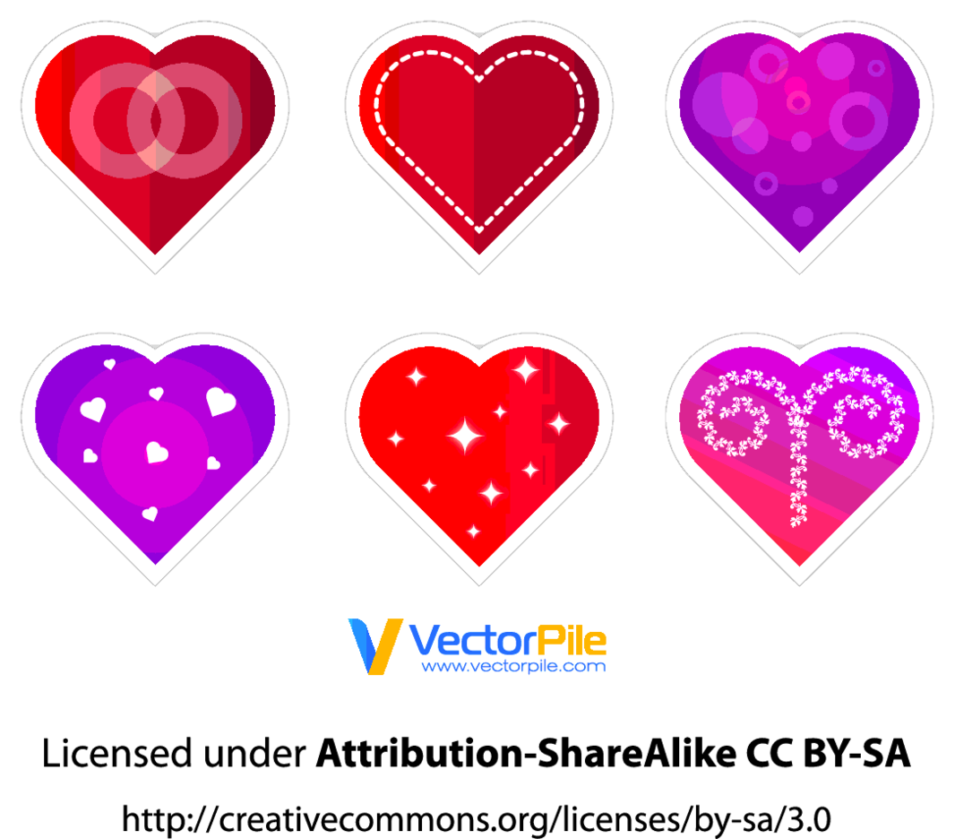 Valentine's Vector Hearts Stickers