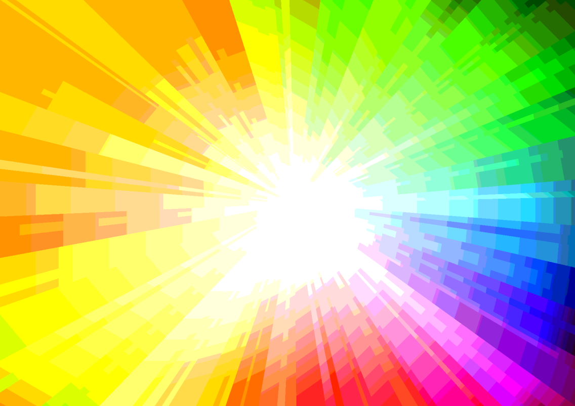 Multicolour Sunbeam Vector