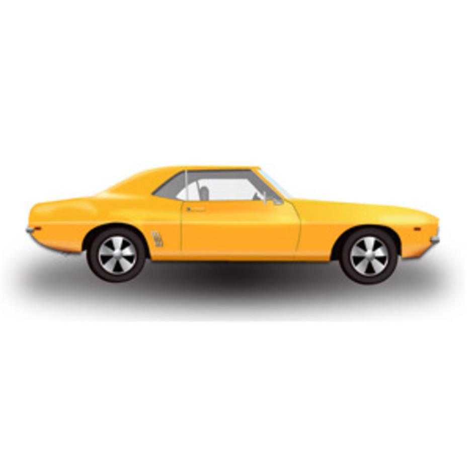 Yellow Hot Rod Car