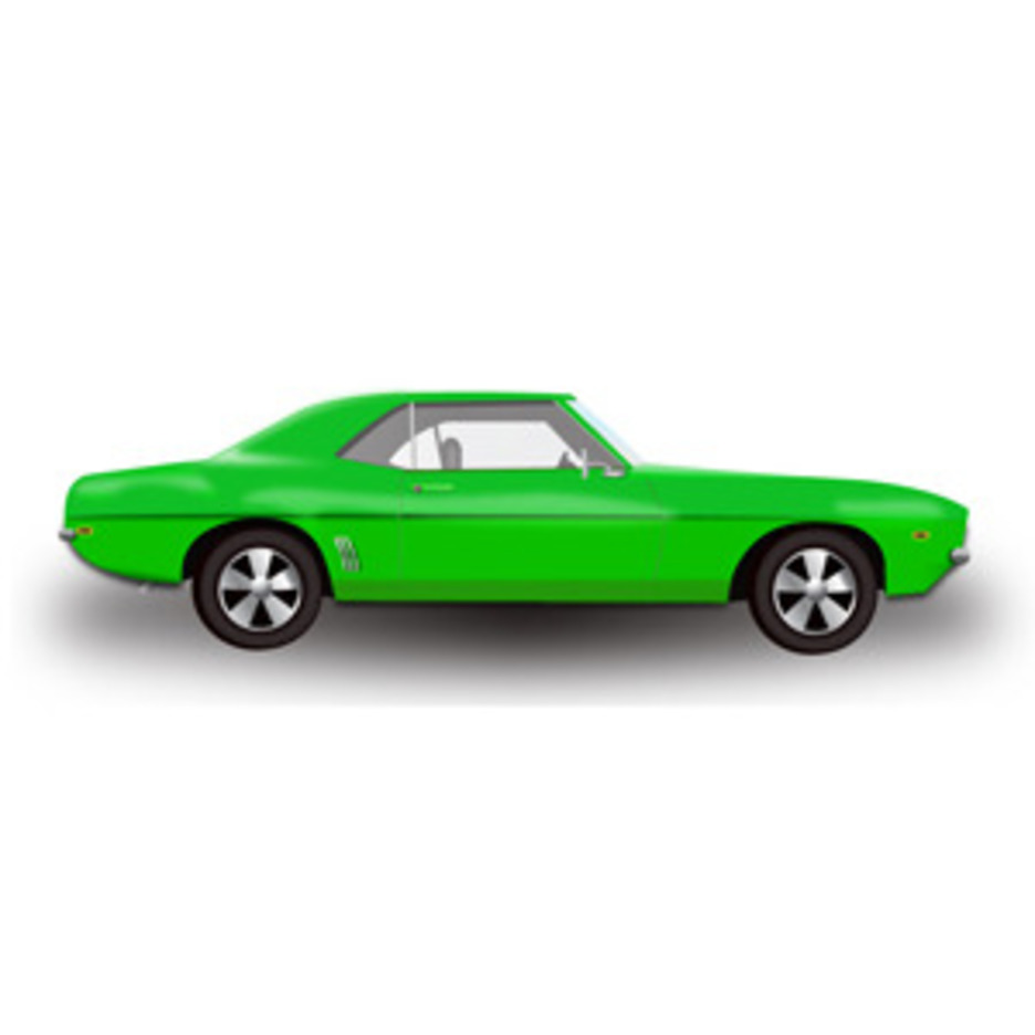 Green Hot Rod Car -Free Vector