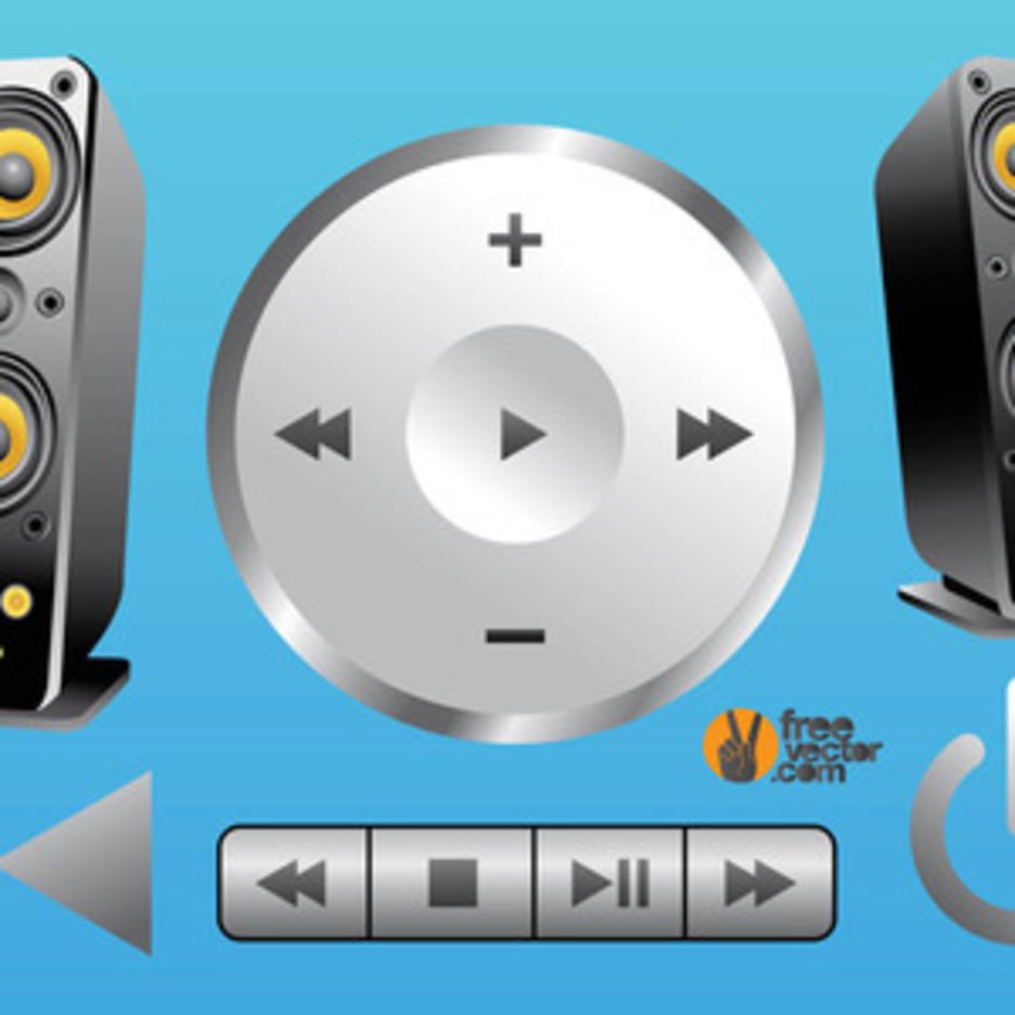 3D Music Vectors