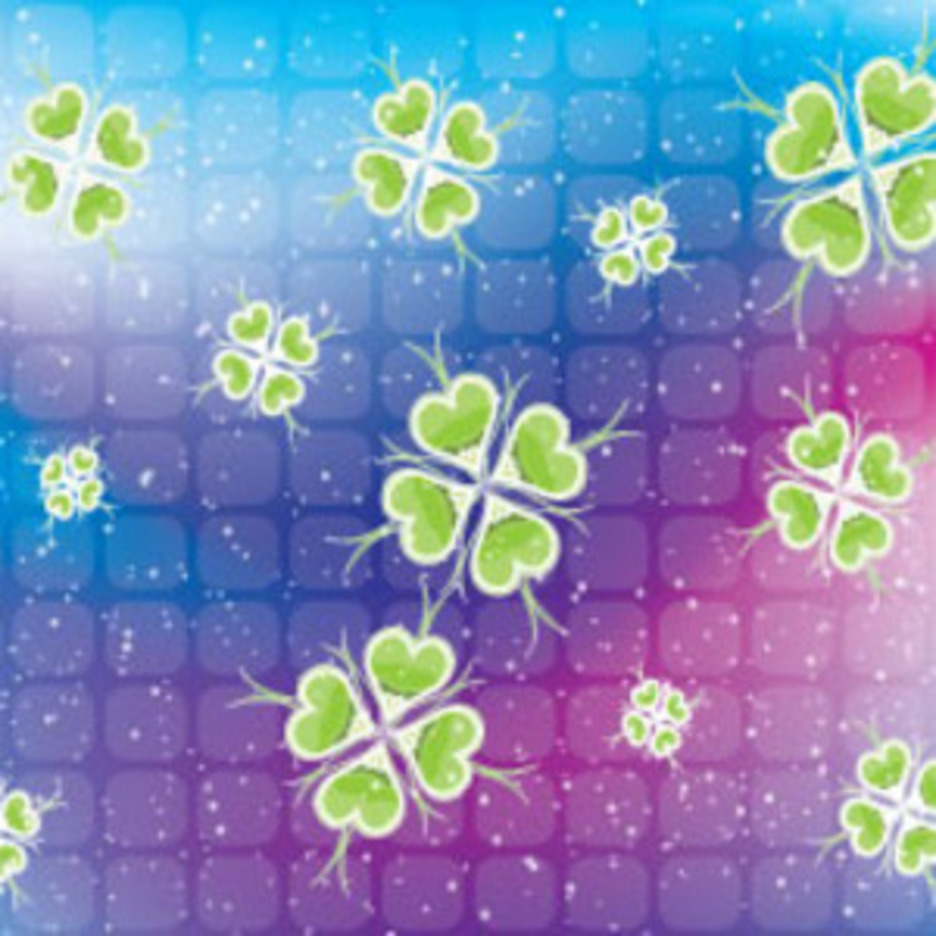 Blue Pink Dotted Floral Green Design