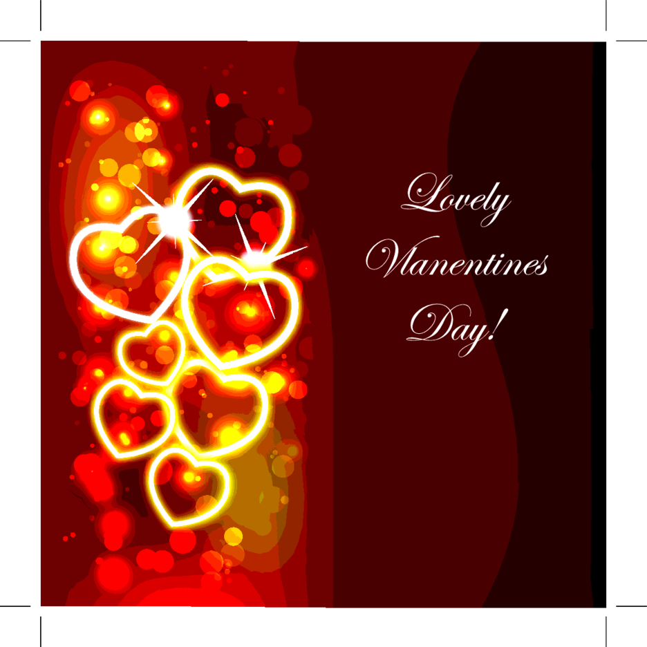 Valentines Day Red Design Background