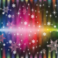Colored Lines Snowy Stars Free Art Vector