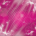 Pink Art Swirls Shinning Circles Design