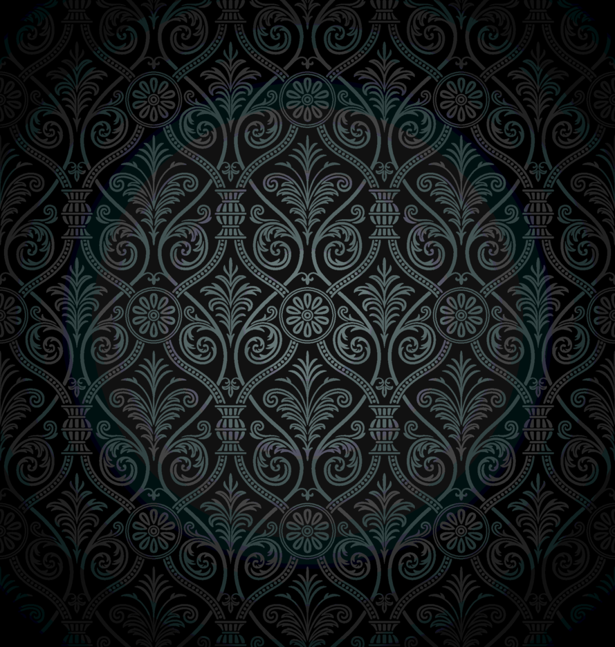 Black Ancient Damask