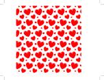 Transparent Heart Seamless Vector Pattern