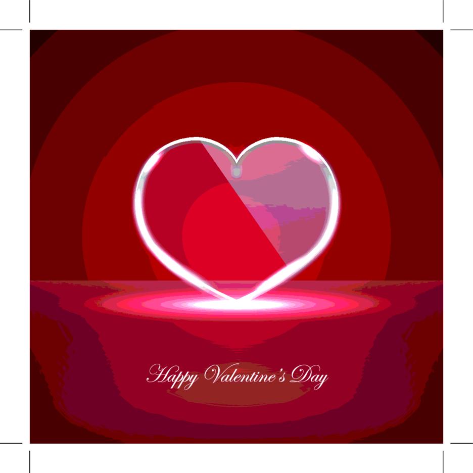 Vector Glass Heart
