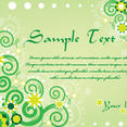 Green Swirls Card