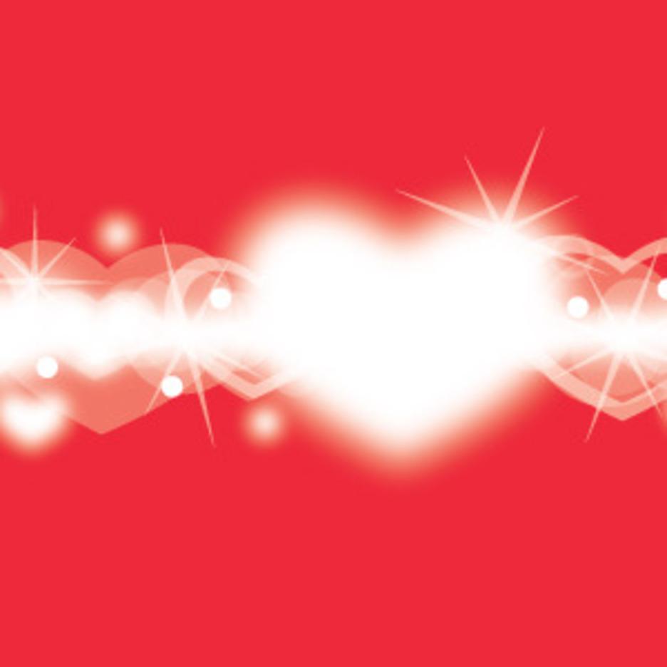 Lightning Hearts Card