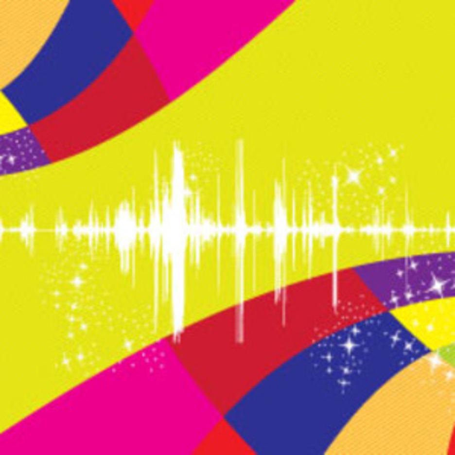 Sound Colored Stars Free Lines Design