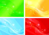 Set Of Four Variants Of Abstract Color Backgrounds