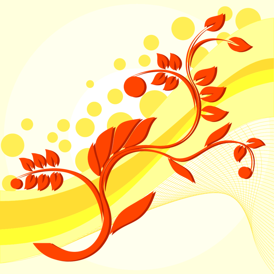 Yellow Floral Background Freevectors