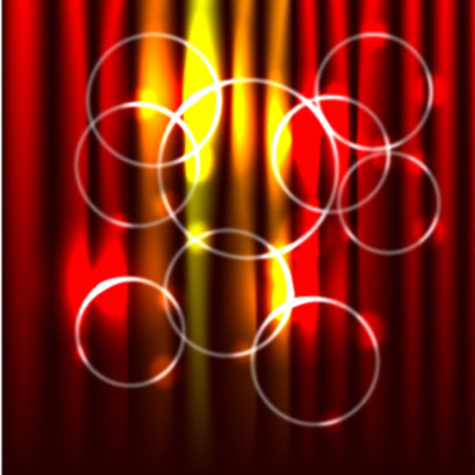 Abstract Red Background With Circles