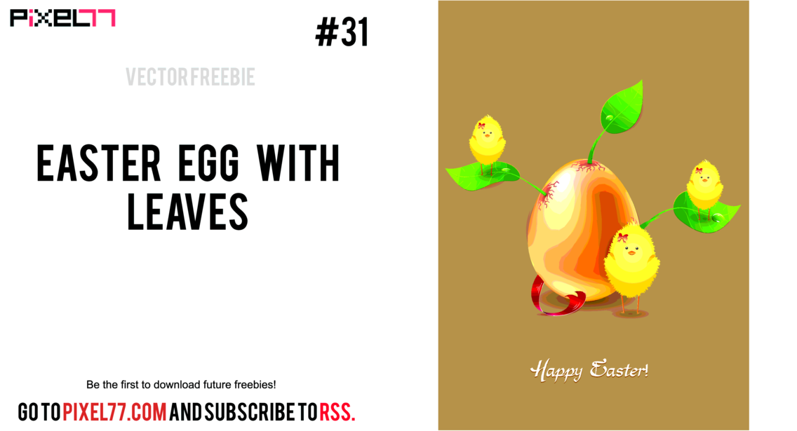Free Vector Easter Illustration With Egg And Leaves