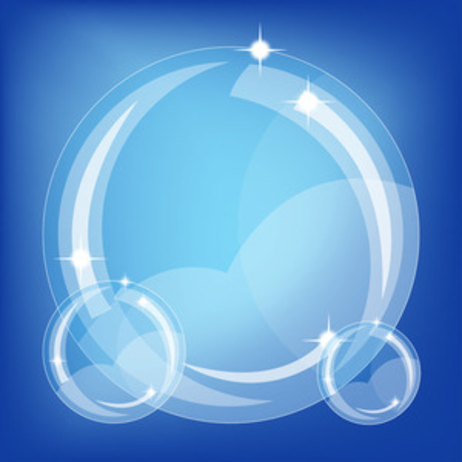 Blue Bubbles Vector