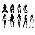 Sexy Girls Silhouettes Free Vector