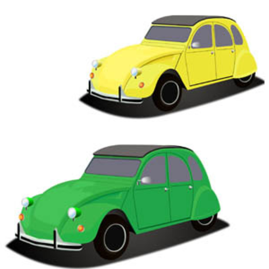 Little French Citroen Car