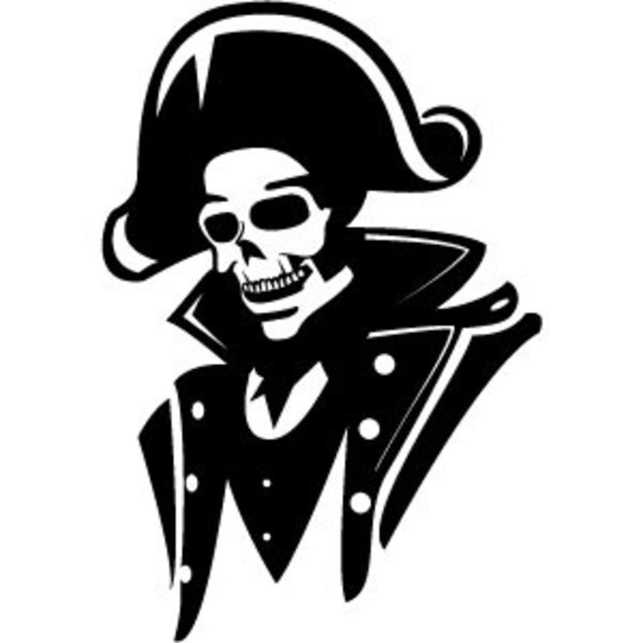 Admiral Skull Vector