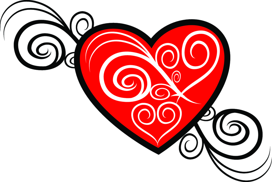 Heart Tribal Vector Image