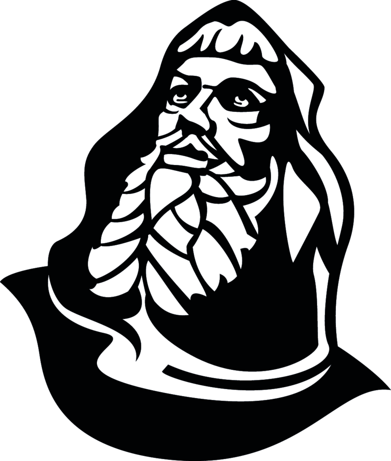 Old Man With Hood Vector