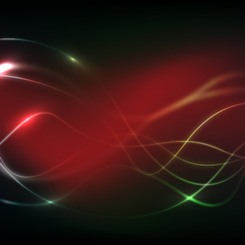 Red Glow Wavy Background