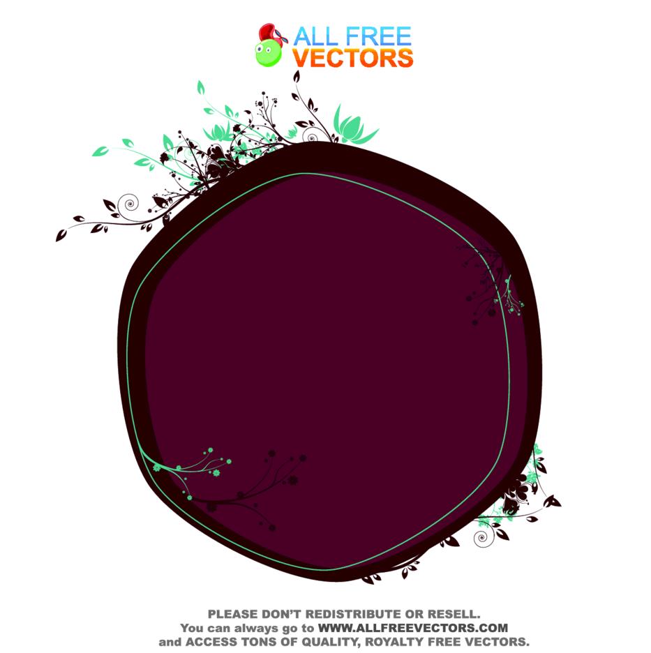 Vector Floral Frame 8
