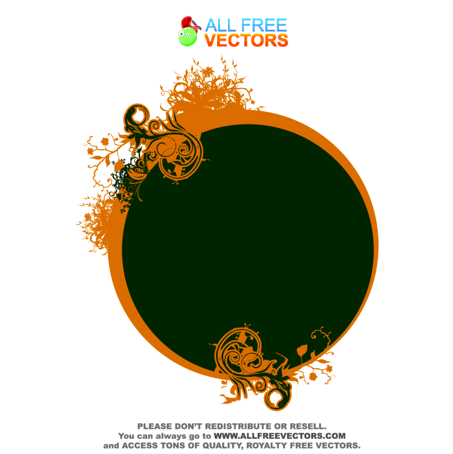 Vector Floral Frame 10