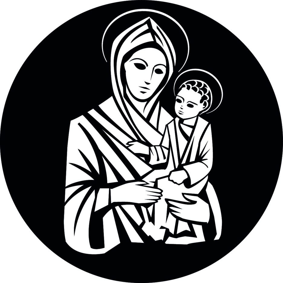 Virgin Mary And Jesus Christ Vector