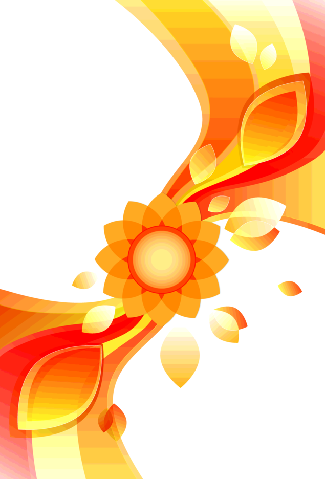 Abstract Flower Background Free Vector