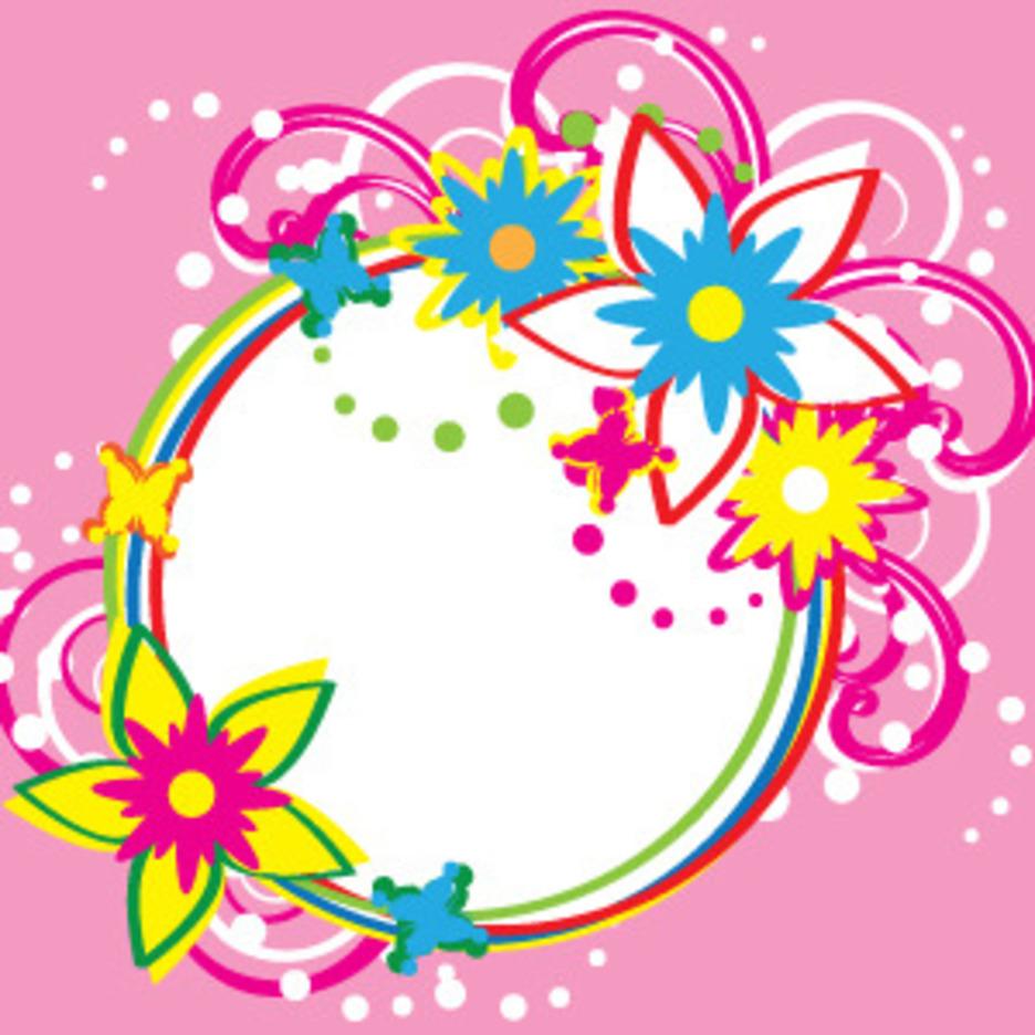 Pink Circle Banner