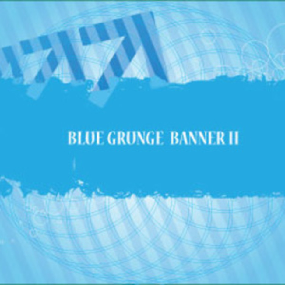 Blue Banner Grunge Free Art Design